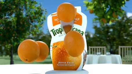 Tropicana 3D CGI orange juice commercial